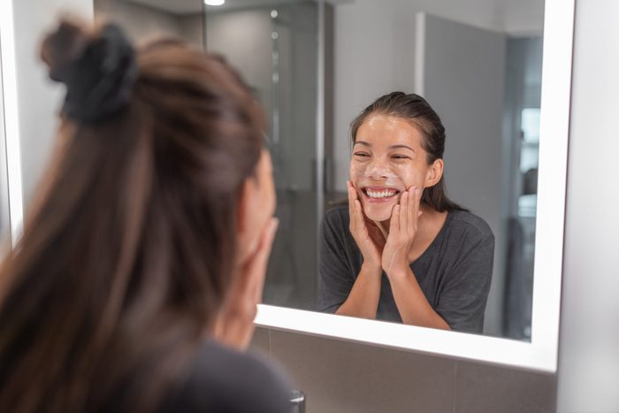 best new beauty products | Face,wash,young,asian,woman,washing,using,facial,scrub,exfoliating