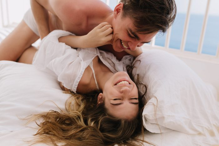 how to spice up your sex life | Joyful,handsome,boy,in,underwear,tickles,his,laughing,long Haired,girl,
