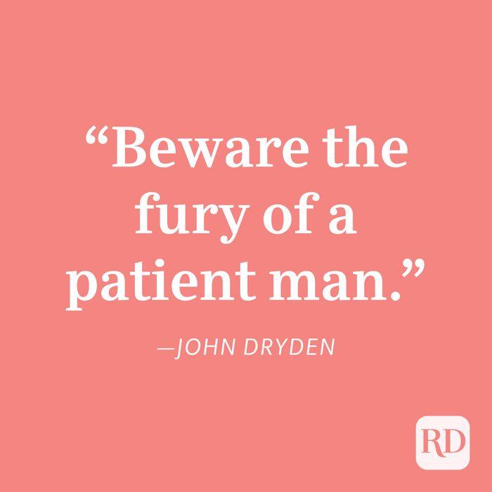 John Dryden Patience Quote