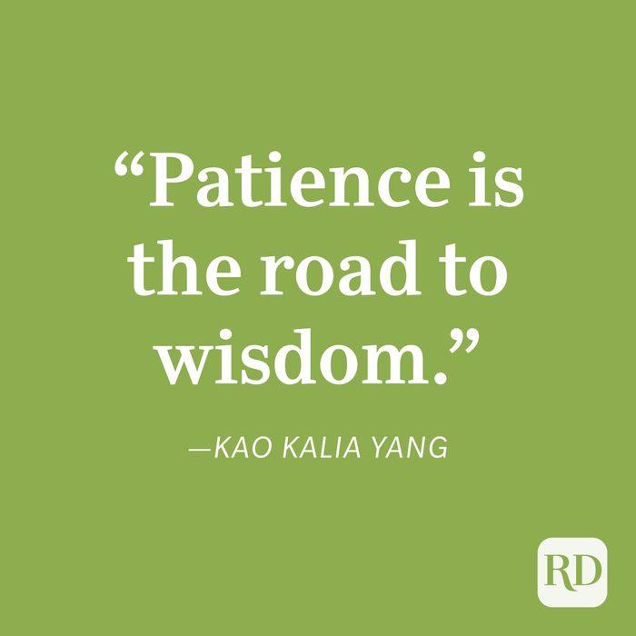Kao Kalia Yang Patience Quote