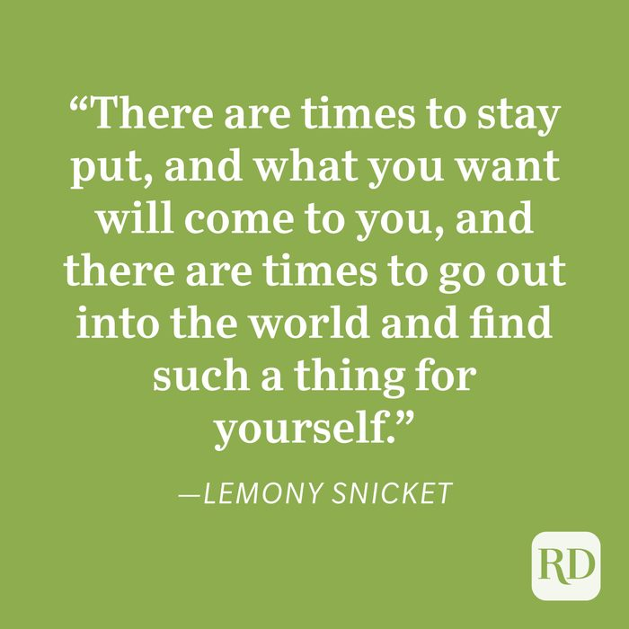 Lemony Snicket Patience Quote