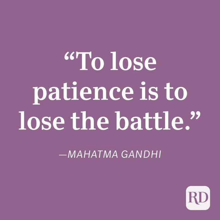 Mahatma Gandhi Patience Quote