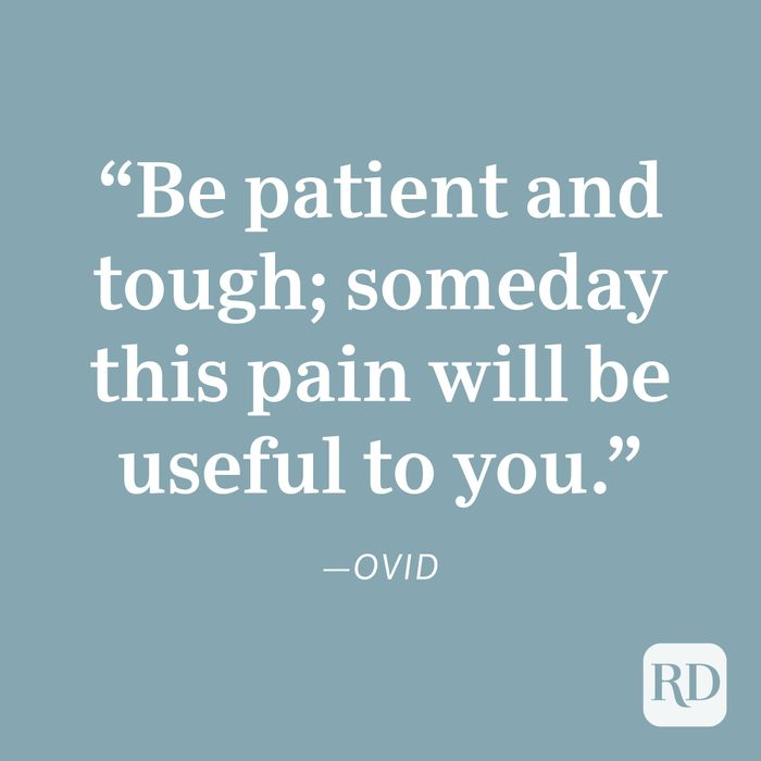 Ovid Patience Quote